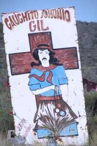 Gauchito Gil Sign