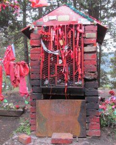 Close up of a shrine near San Martin de Los Andes.