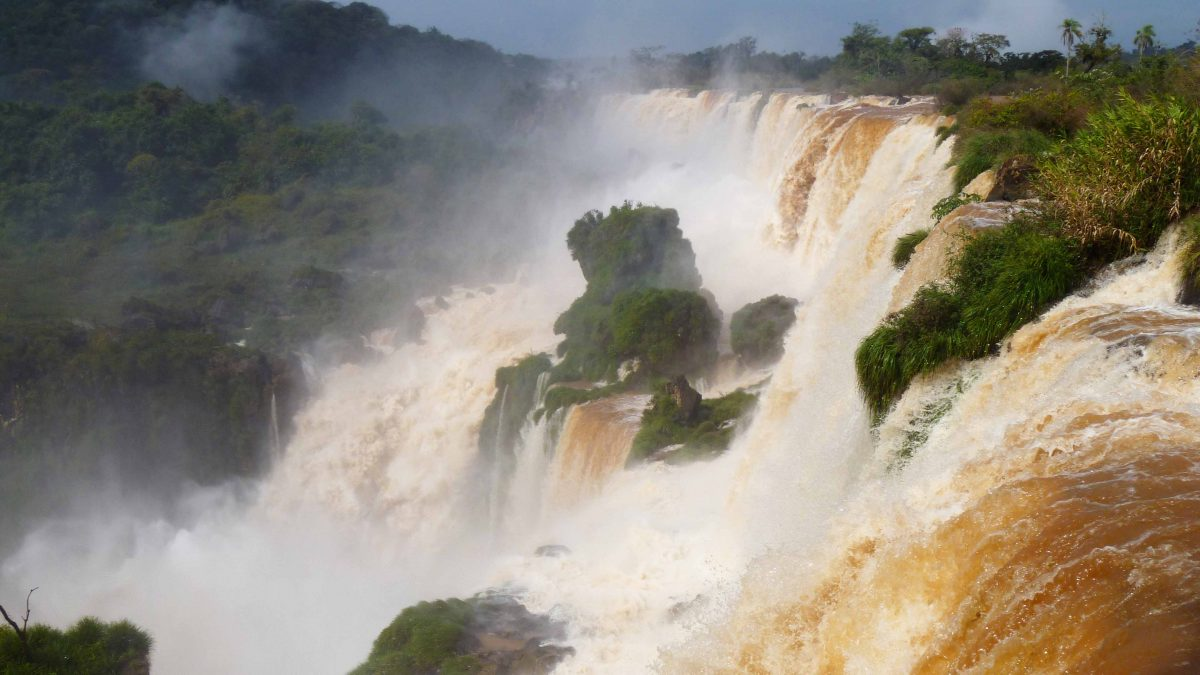 Iguazu Falls with Soil Runoff
