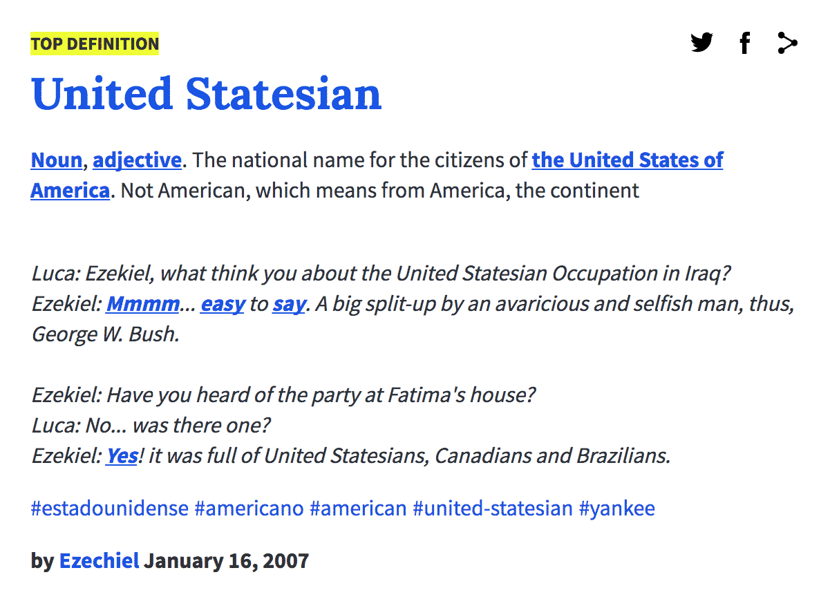 Urban dictionary definition united statesian not your for Lit urban dictionary