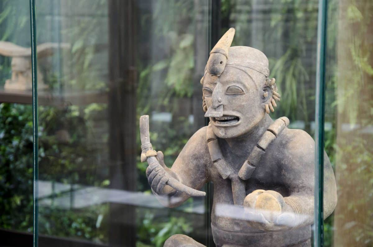 Ancient Pottery Statue, Casa Alabado, Quito, Ecuador | ©Angela Drake