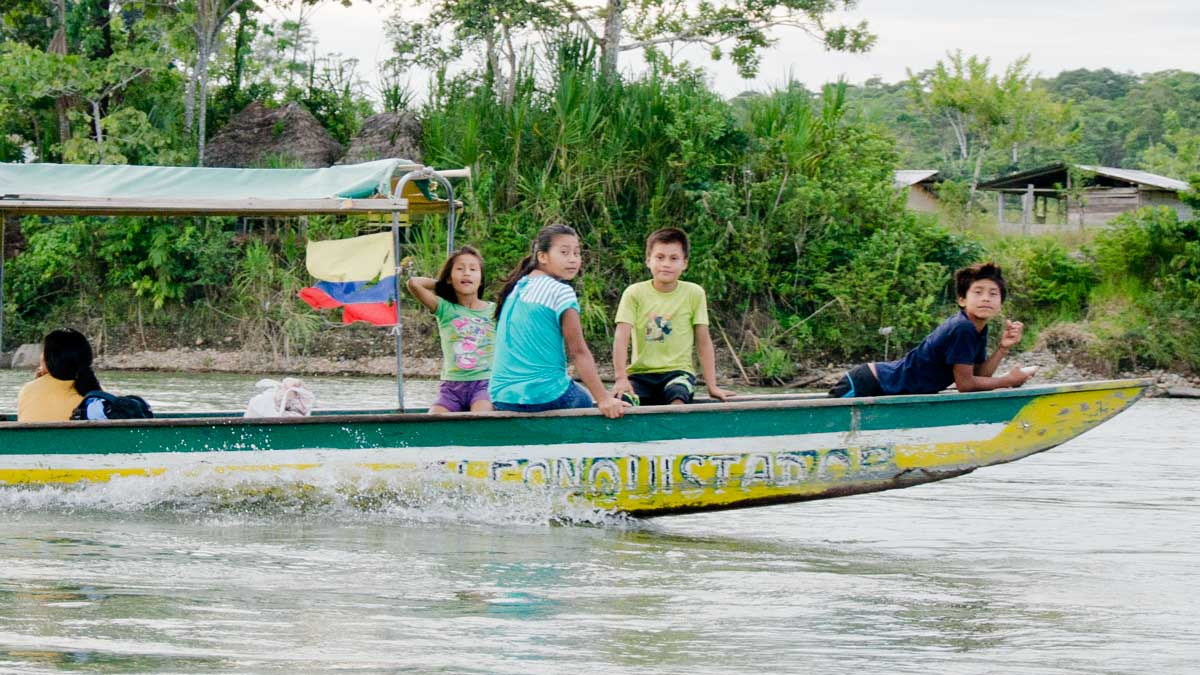 River travel is the main mode of transportation along the Napo River | ©Angela Drake