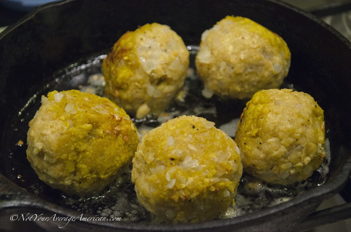 Bolón de Verde or Green Plantain Dumplings