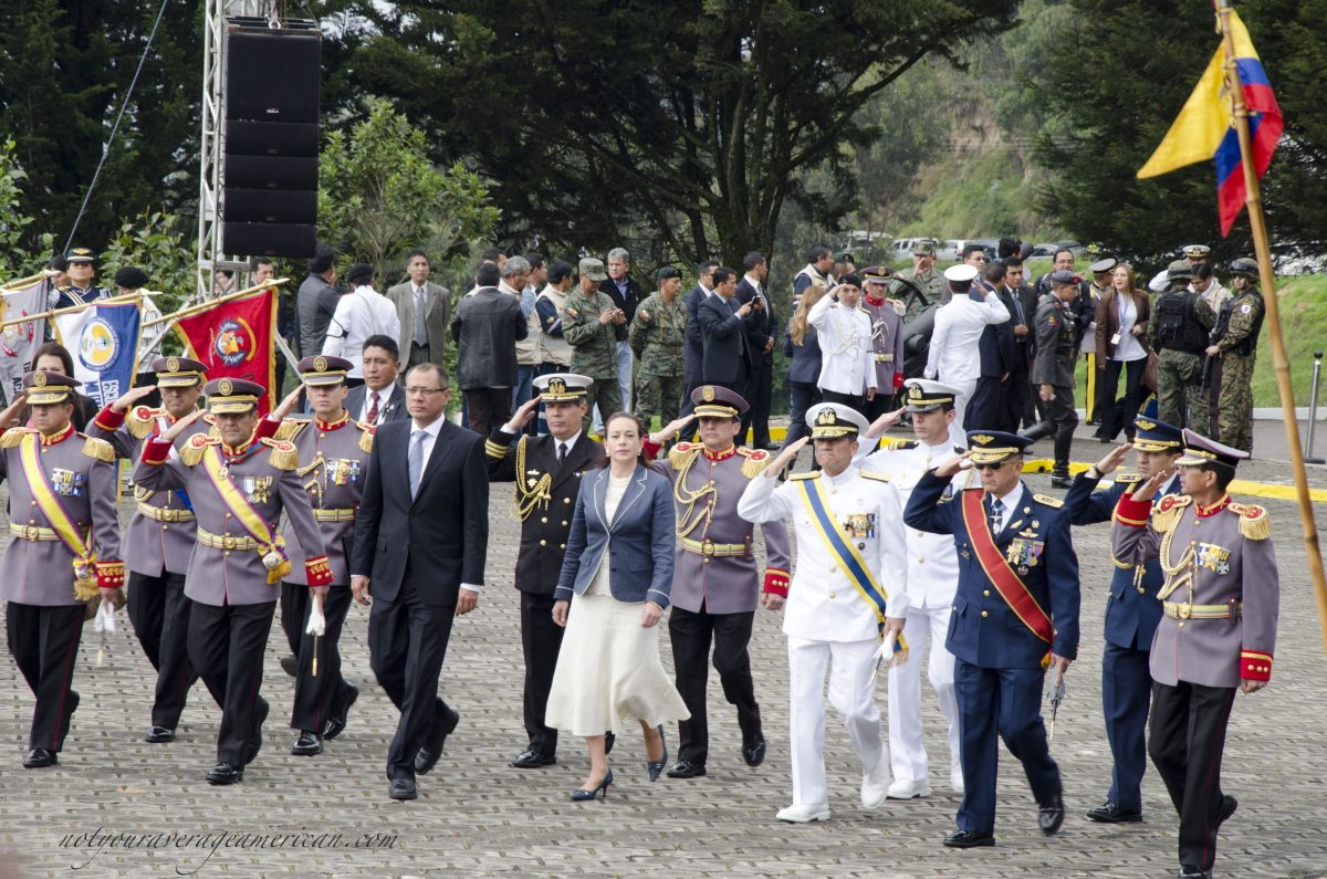 The entrance of the official party; Cima de la Libertad, Quito, Ecuador | ©Angela Drake