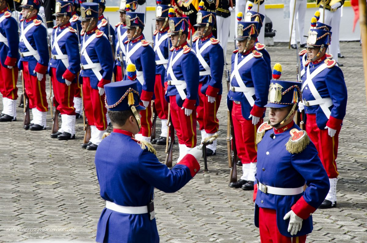 Changing of the guard; Cima de la Libertad, Quito, Ecuador | ©Angela Drake