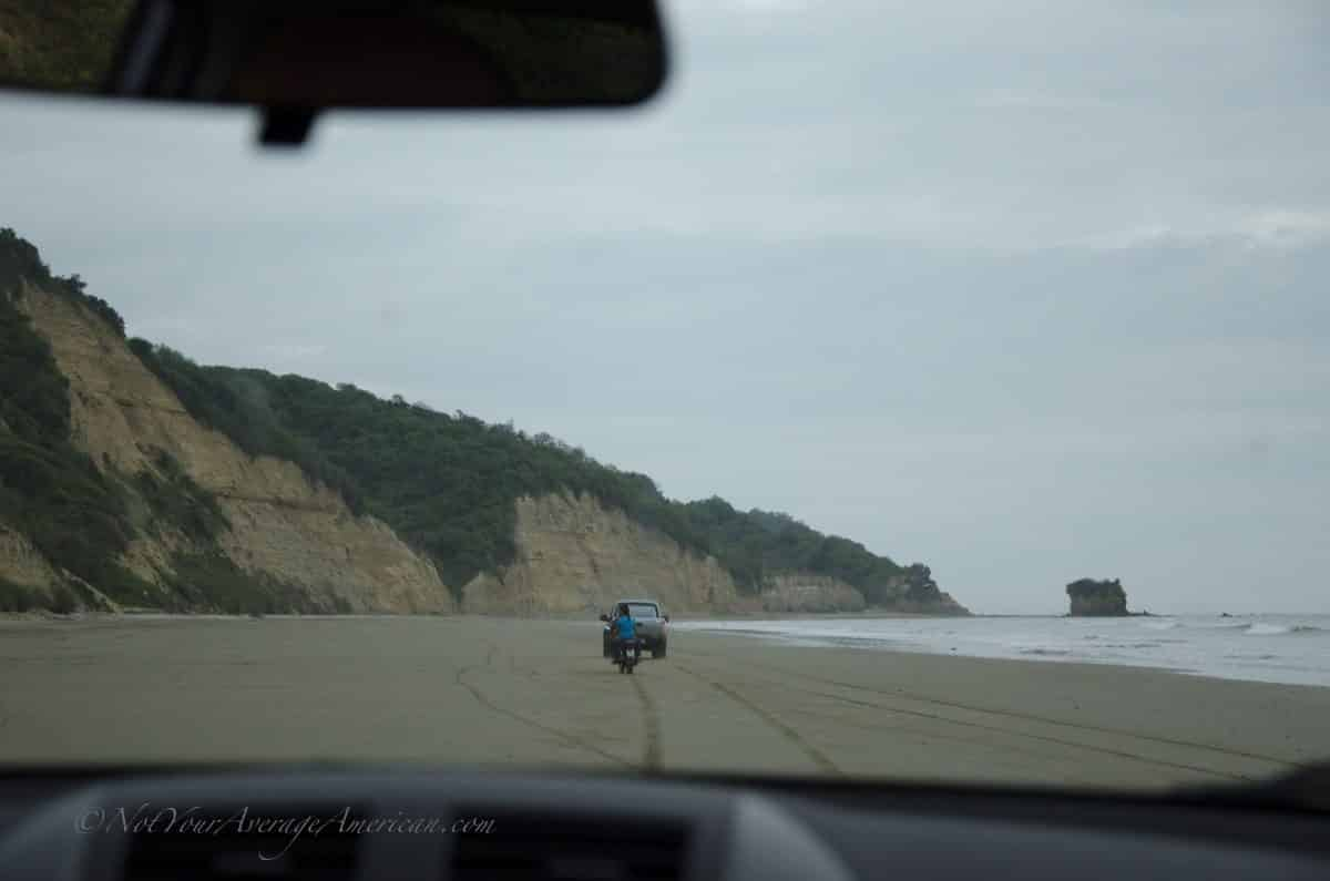 Driving at Low Tide, Chirije Lodge, Manabi, Ecuador