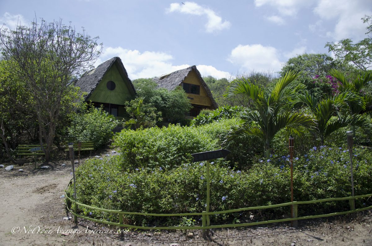 Two of the cabins, Chirije Lodge, Manabi, Ecuador