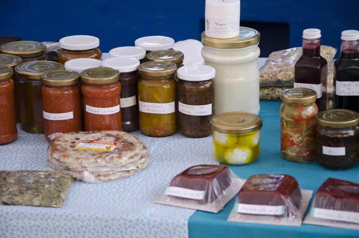 Finca Chaupi Molino also sells jams, jellies, sauces, fresh cheese, and yogurt, and more, Mercado La Esquina, Cumbaya, Ecuador