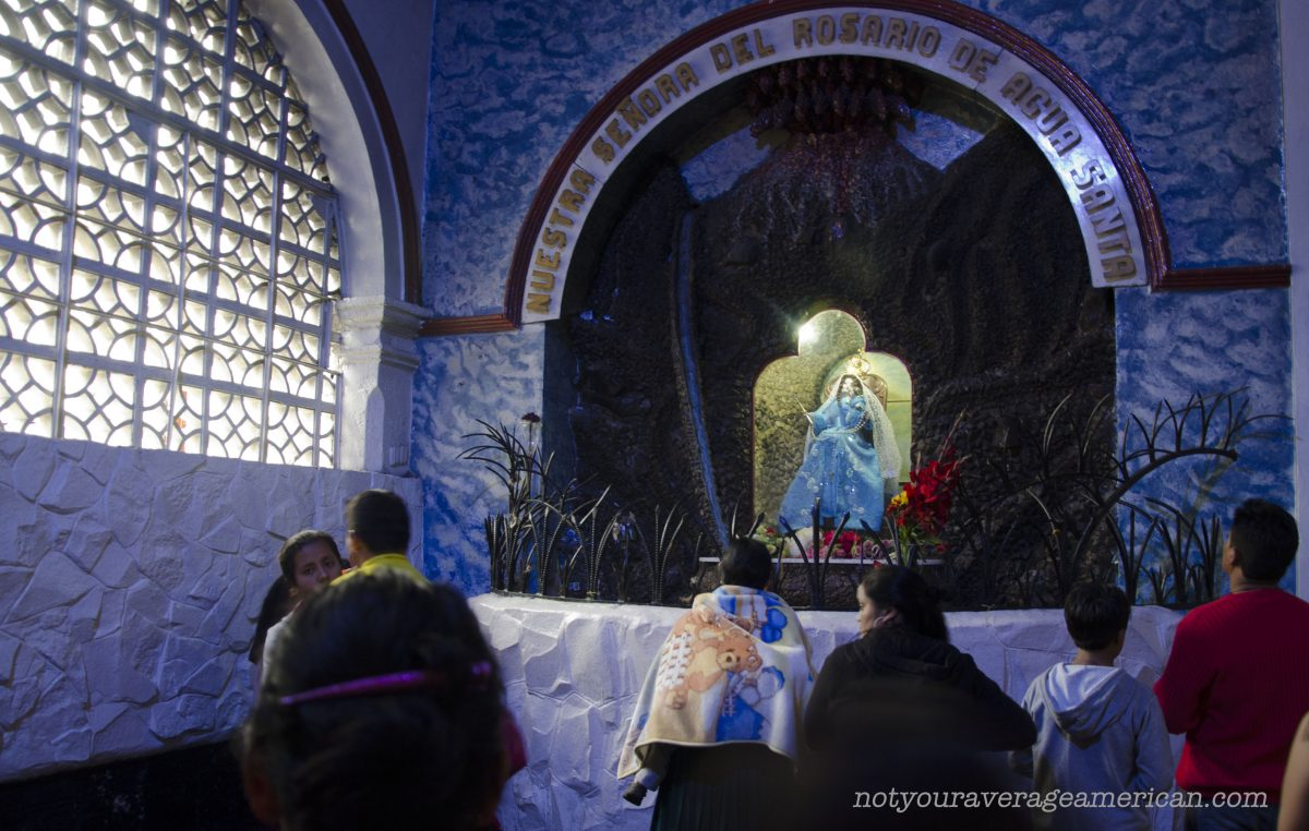 The Virgin of the Holy Water, Baños, Ecuador