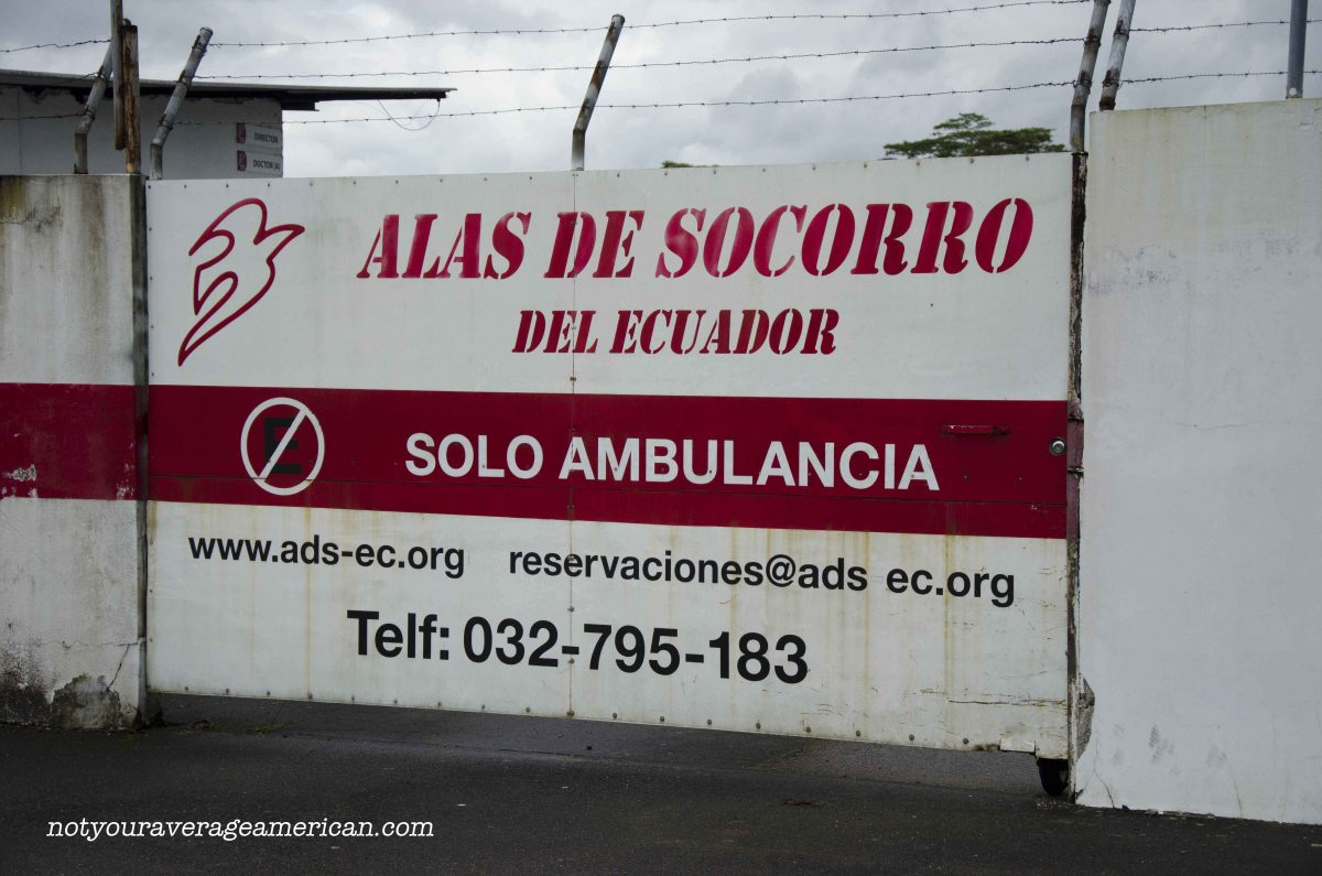 Alas de Socorro, a non-profit company, operates flights in and out of the jungle, Huaroani Lodge