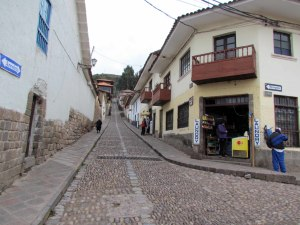 Early morning on back street in Cusco