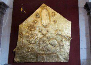 Replica of Incan plaque
