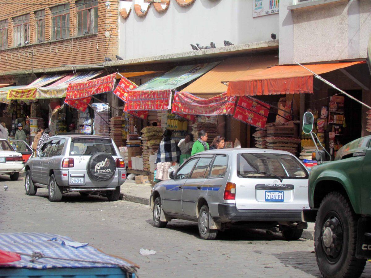Downtown market in la paz