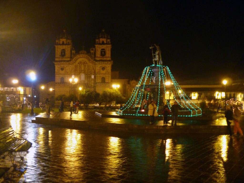 Plaza de Armas with the Cathedral in the background