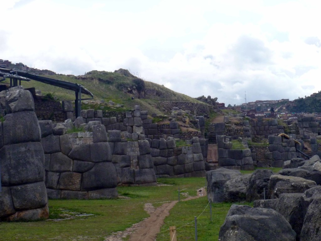 Some of the many walls of Saqsayhuamán