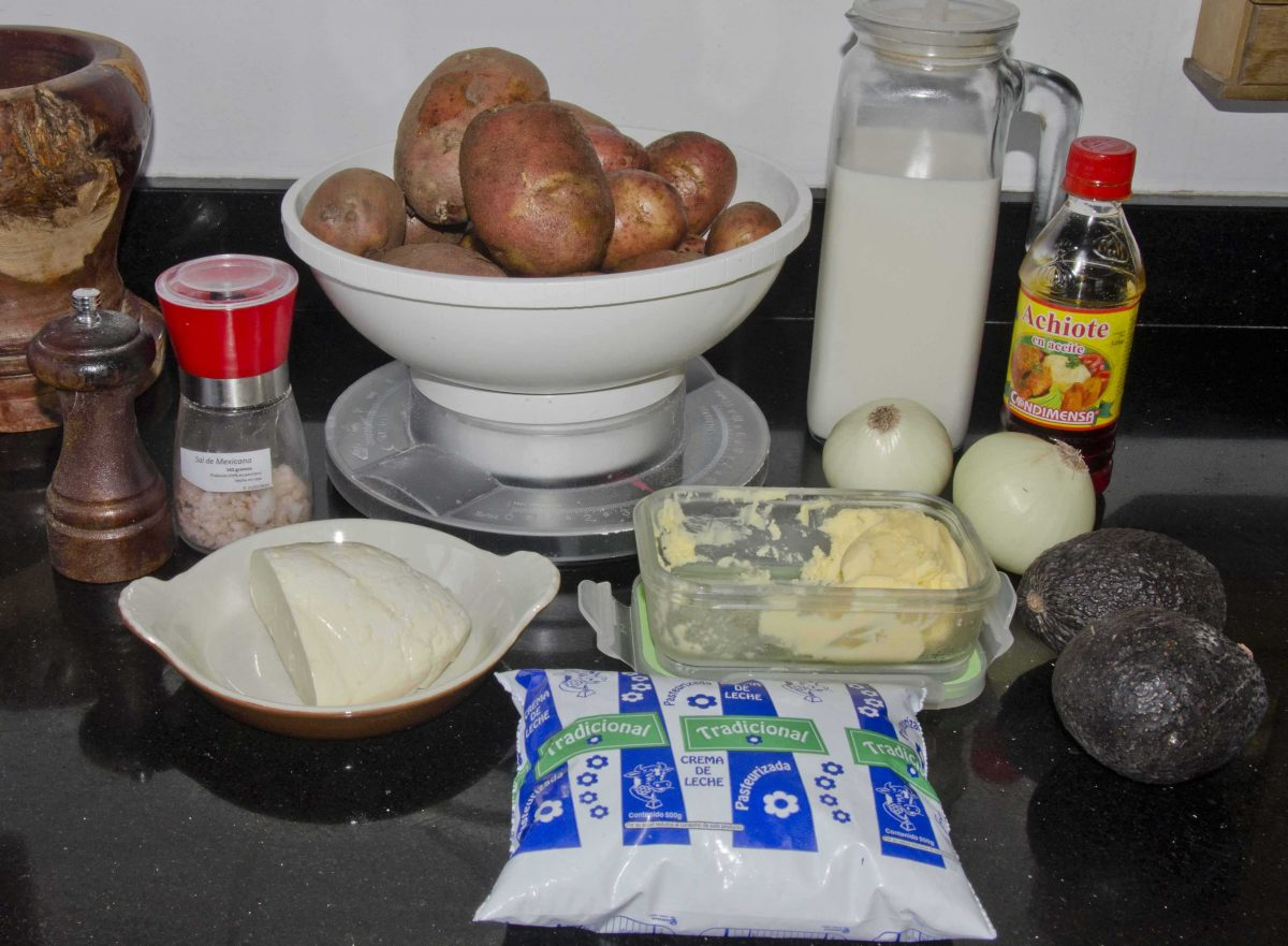 Ingredients for Locro - Not Your Average American