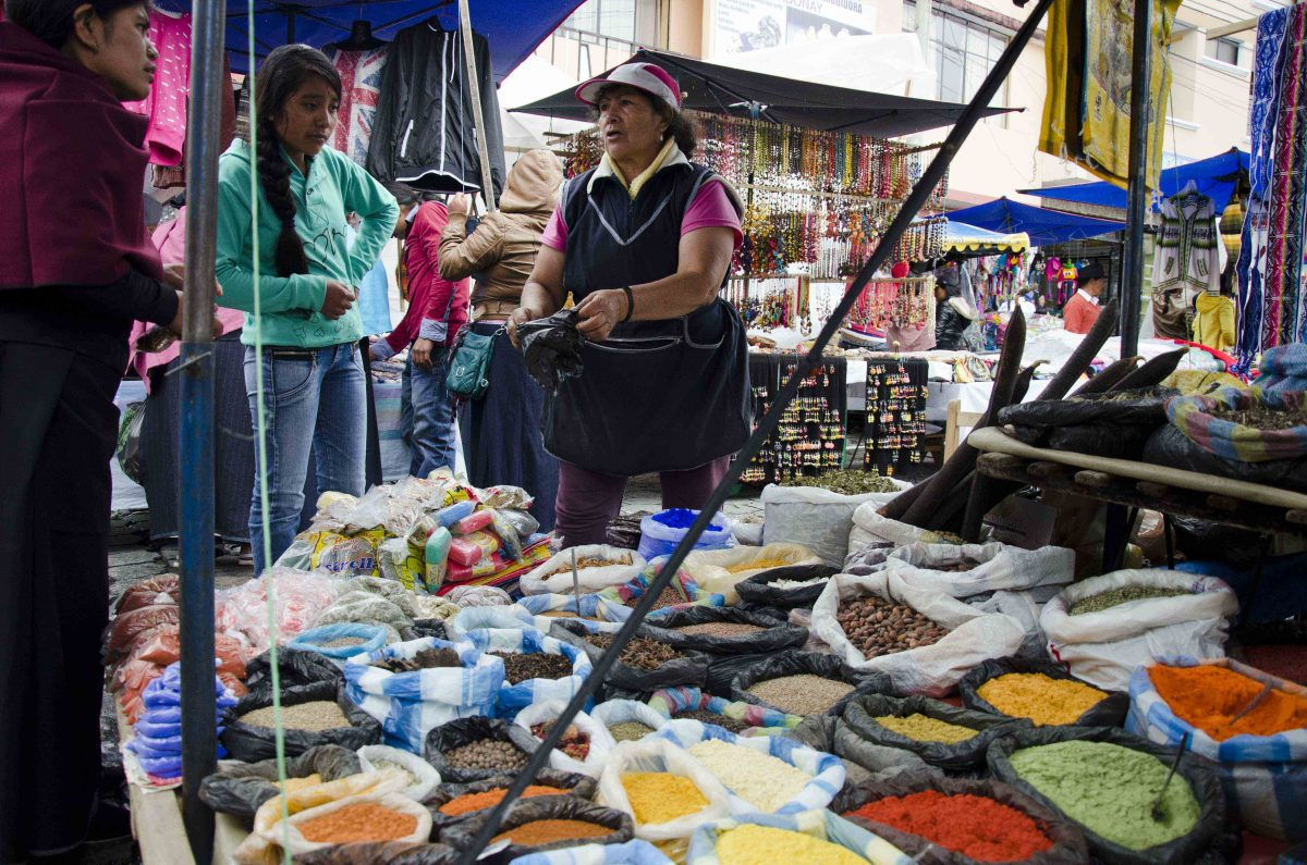 Spice Vendor, Otavalo Market, Ecuador