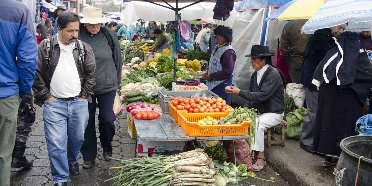 Vegetable Vendors, Otavalo Market, Ecuador