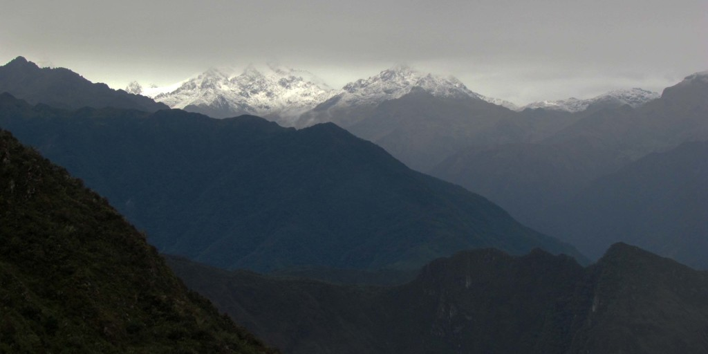 Andean snow covered mountains