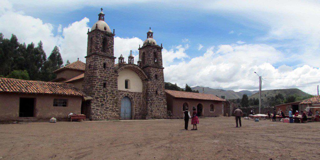The central plaza at Raqchi.