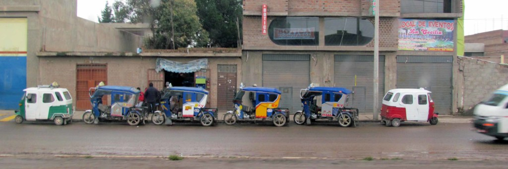 The tricycle taxi.