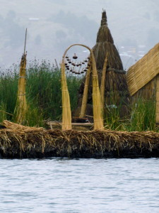 Woven archway on a floating island