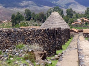 The qolchas or grain silos.