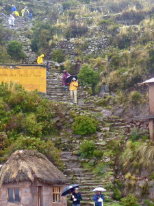Steps down the port were worthy of the Inca Trail