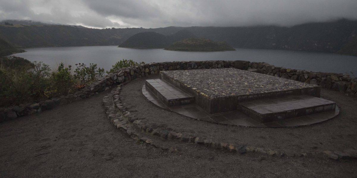 A Reconstructed Offering Platform, Laguna Cuicocha, Ecuador