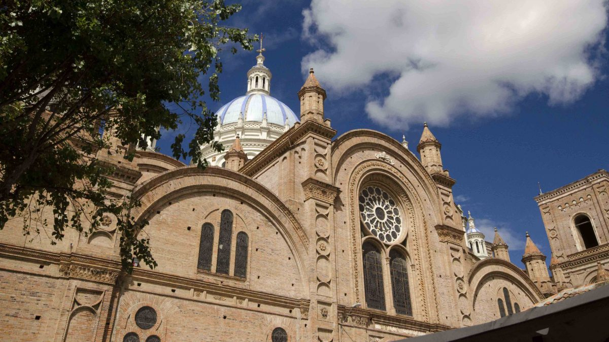 A Side View, the New Cathedral, Cuenca, Ecuador