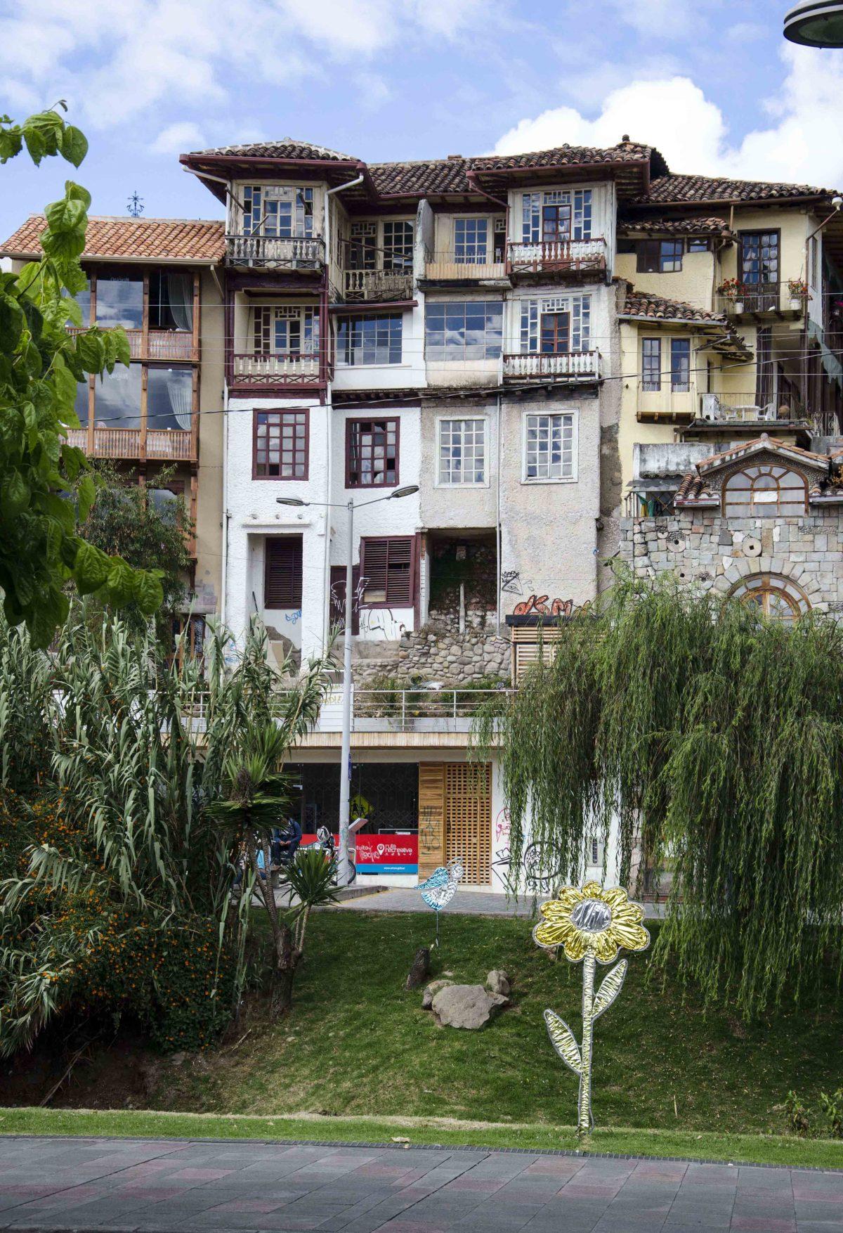 Houses near the Rio Tomebamba, Cuenca, Ecuador