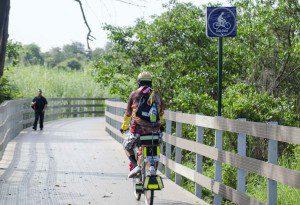 Colorful Biker
