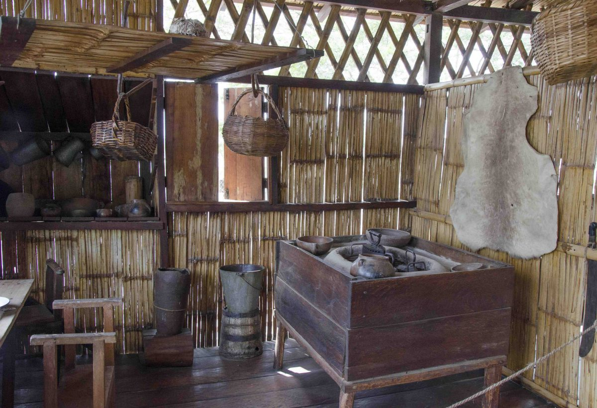 A coastal kitchen of old, Museo Amantes de Sumpa, Santa Elena, Ecuador
