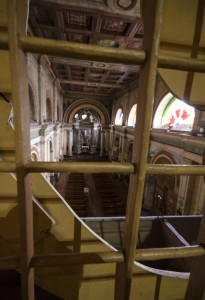 A Peek into the Church Below