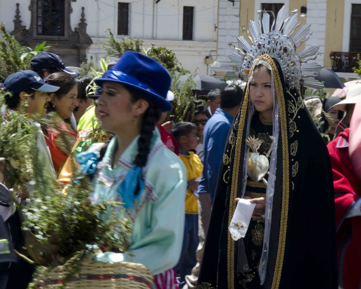 Palm Sunday Procession, Quito | ©Angela Drake