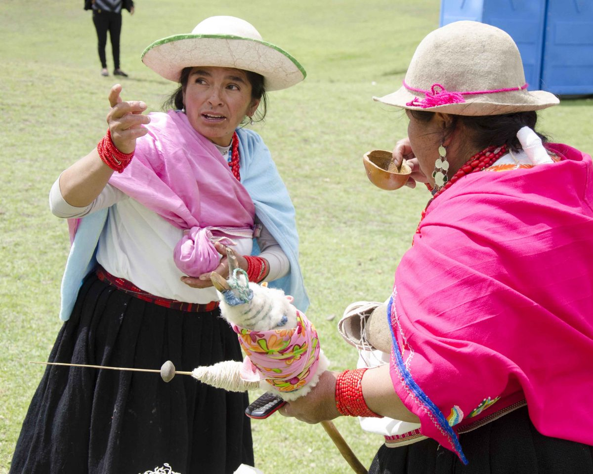 Sharing Chicha de Jora at the Mushak Nina festival, Cochasquí, Pichincha, Ecuador | ©Angela Drake / Not Your Average American