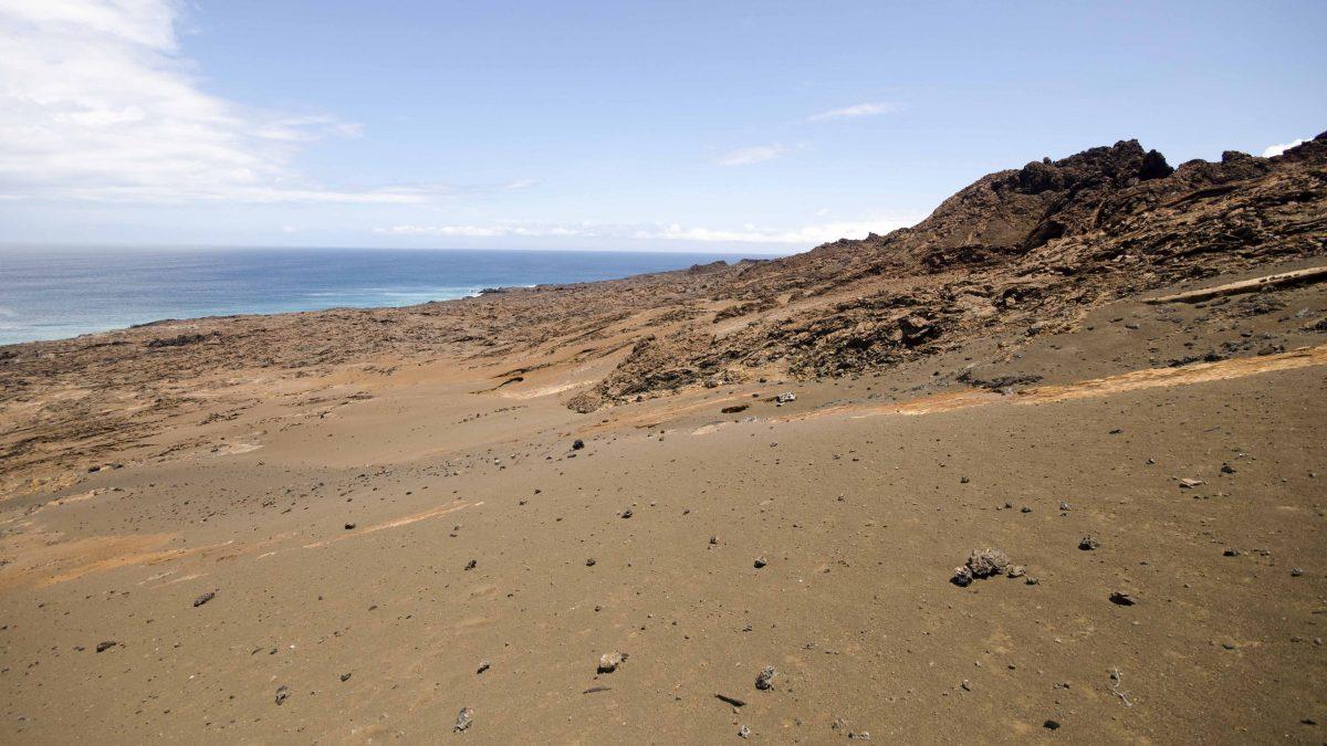 Landscape, Bartolome Island, the Galapagos.
