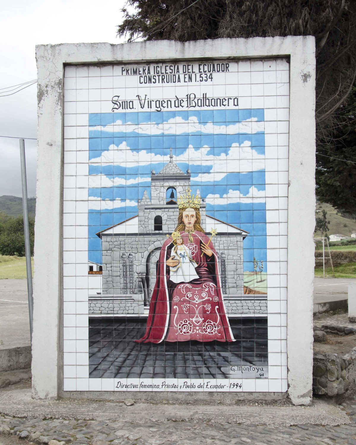 Tilework near the oldest church in Ecuador, the Iglesia de Balbanera, Colta | © Angela Drake