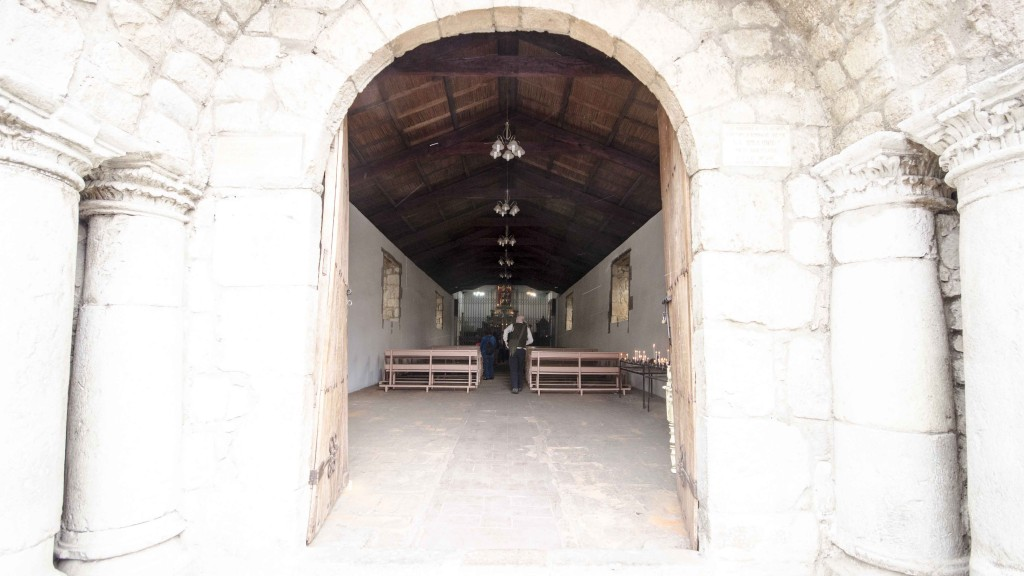 Entrance to the oldest church in Ecuador