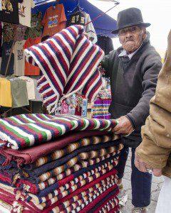 Vendor Selling Woolen Ponchos