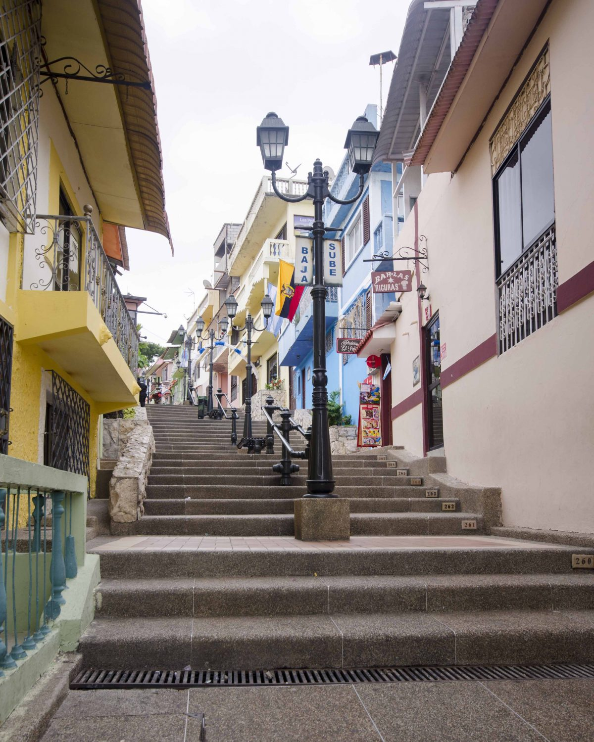 Stairway to the Lighthouse on Cerro Santa Ana, Guayaquil, Ecuador