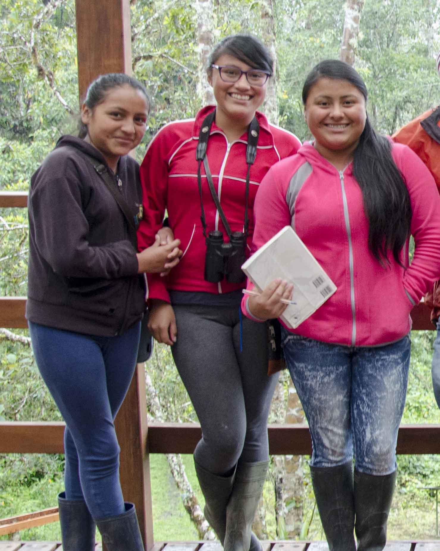 Future Ecuadorian Birding Guides? Cabañas San Isidro, Ecuador | ©Angela Drake