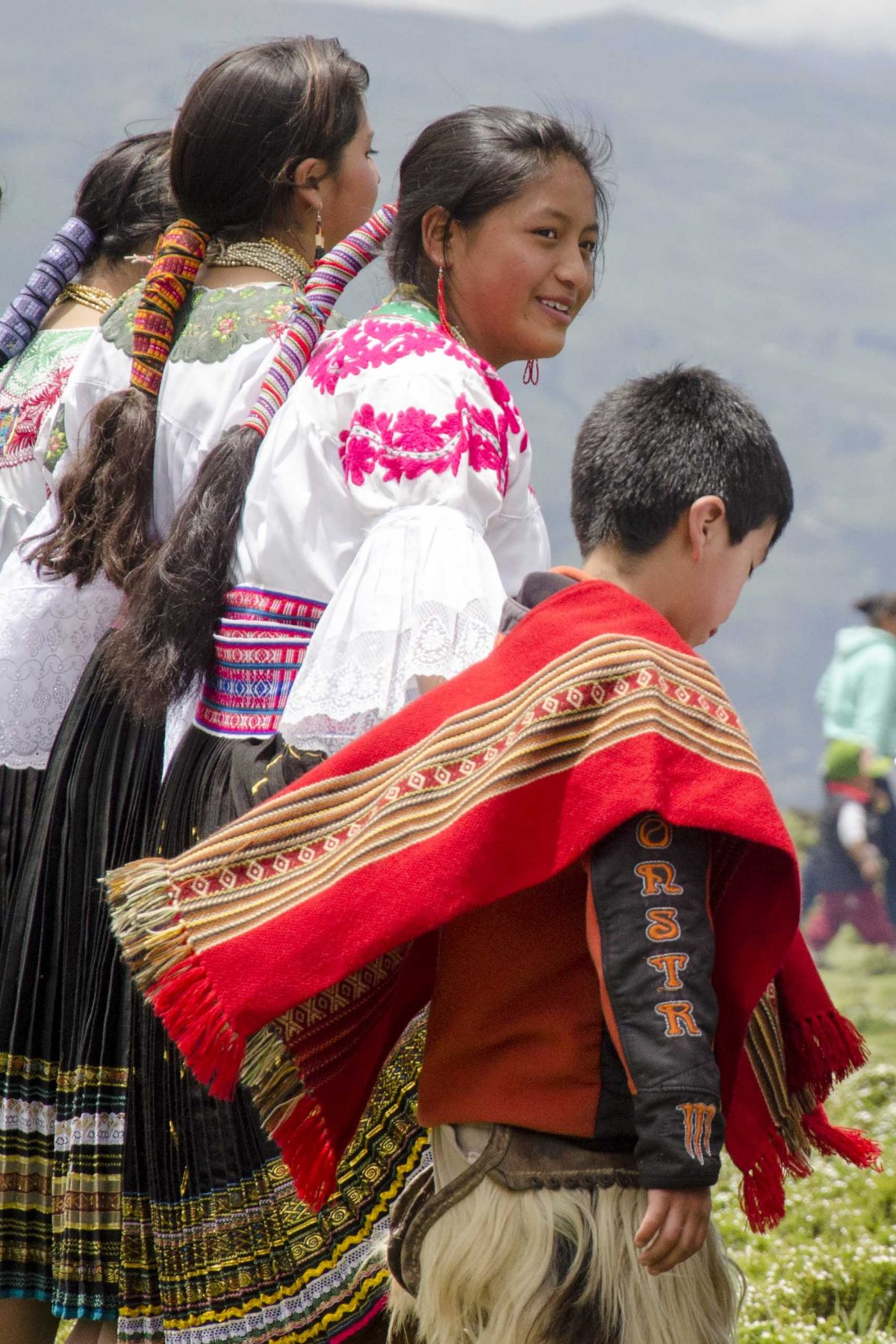 Dancers on top of an ancient pyramid, Cochasquí, Ecuador | ©Angela Drake / Not Your Average American