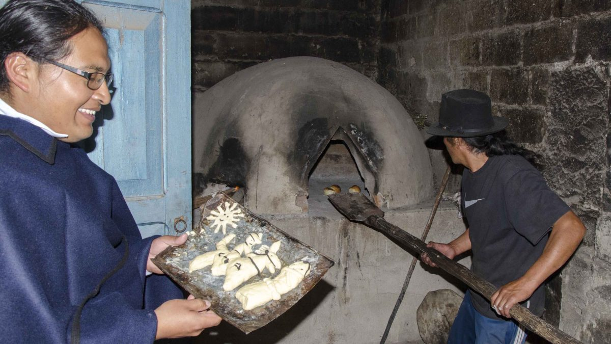Guaguas de Pan are traditionally baked in wood burning ovens, Peguche, Ecuador | ©Angela Drake