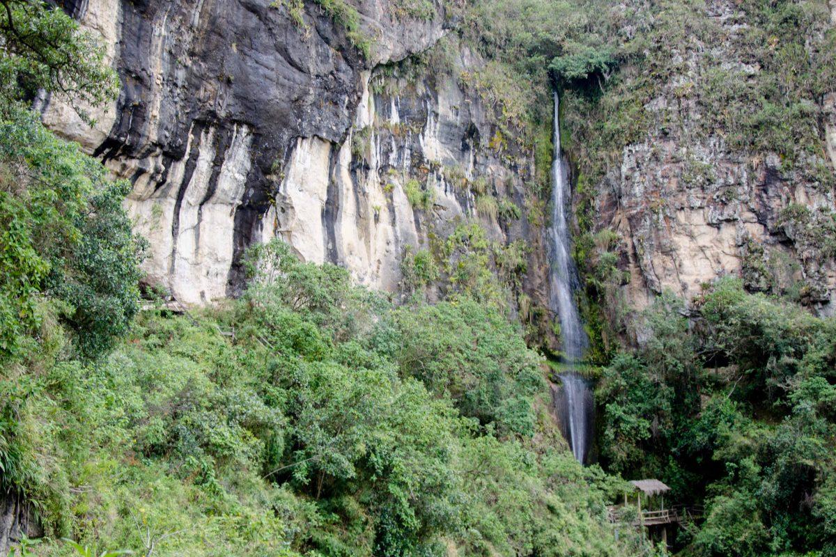 Cascade Near Saraguro, Loja Province, Ecuador