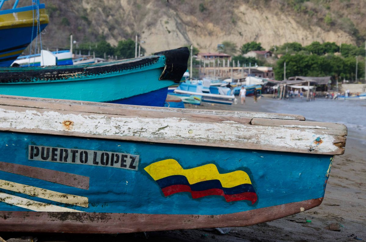 Fishing boat, Puerto Lopez, Ecuador | ©Angela Drake / Not Your Average American