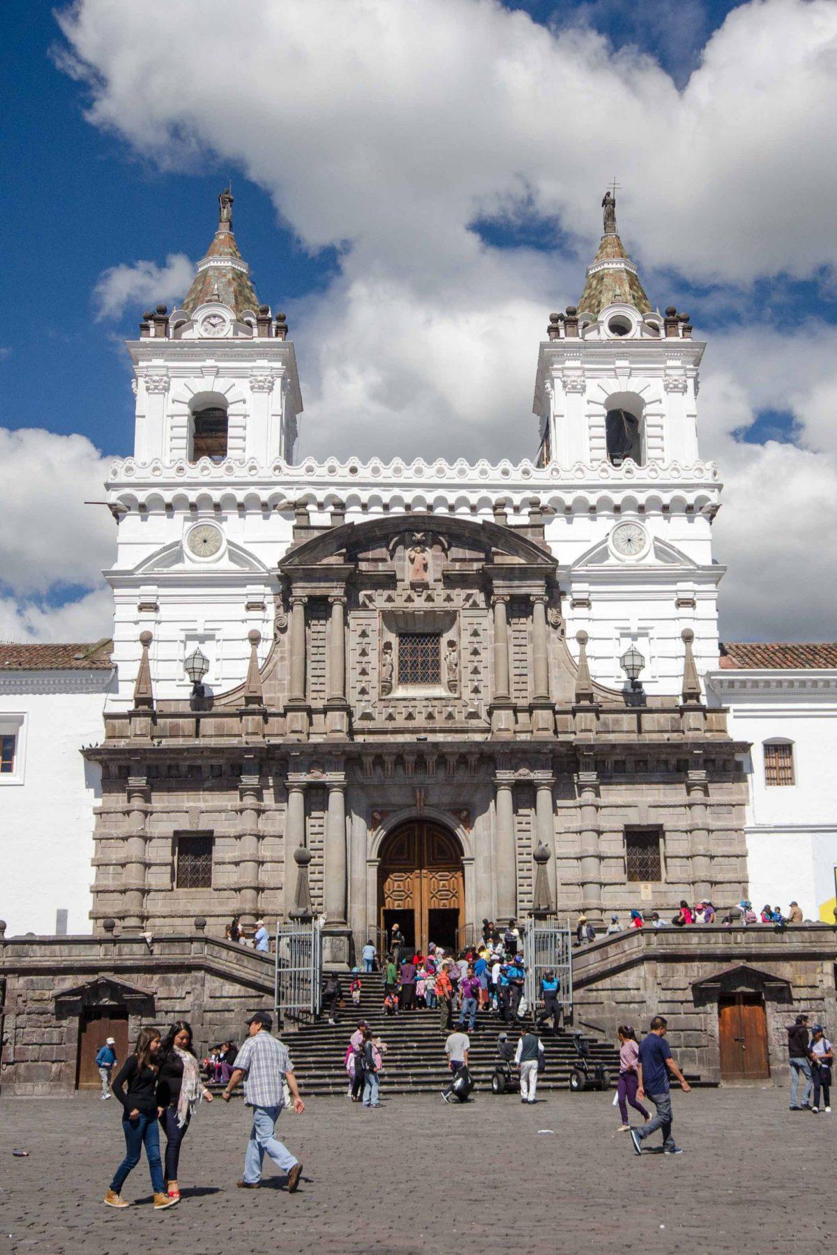 Front of the Iglesia San Francisco, Quito, Ecuador | ©Angela Drake