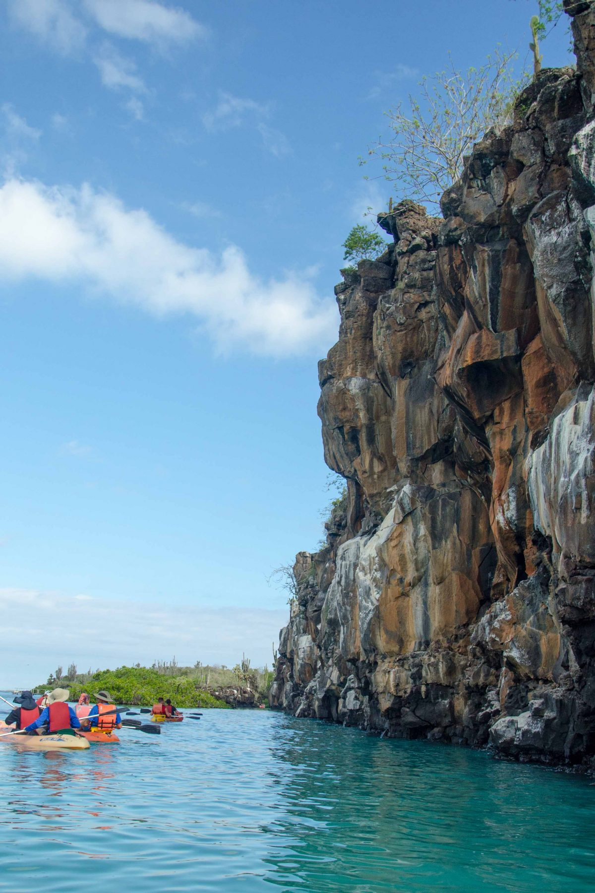"Kayaking near ""Playa de los Perros"", Santa Cruz Island, Galapagos | © Angela Drake"