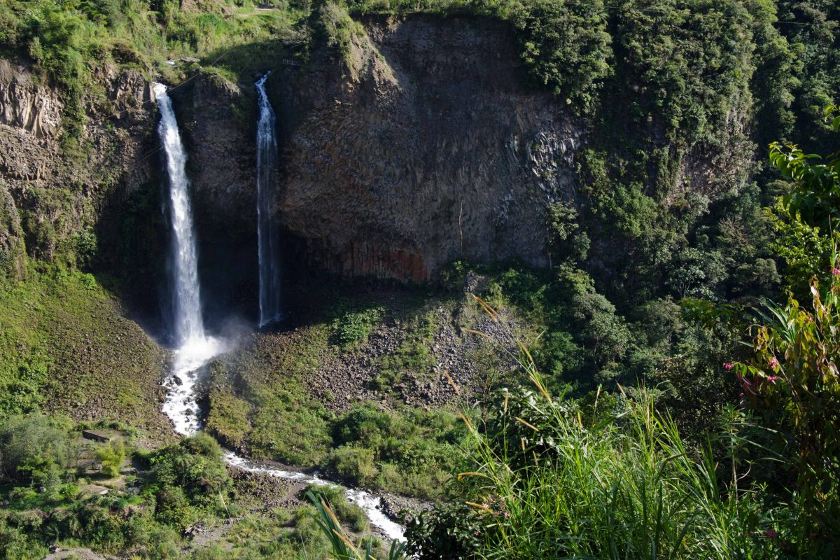 Agoyan Waterfall, Baños de Agua Santa, Tungurahua Province, Ecuador Por Mis Ojos