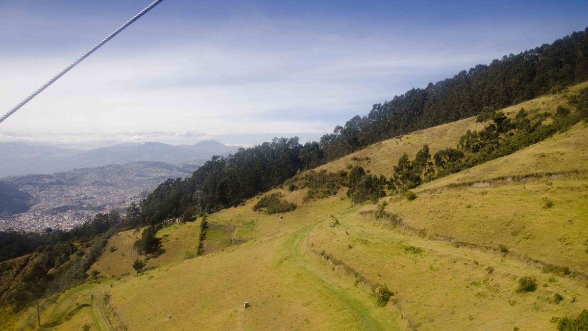 View from a Cable Car, Hiking Pichincha, Quito, Ecuador